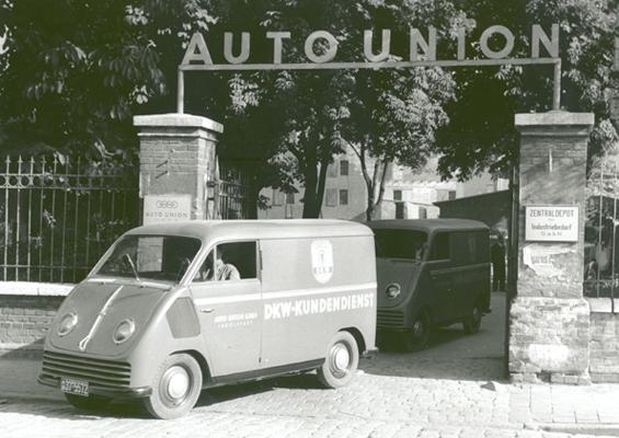 Das erste Fahrzeug, das aus der Ingolstädter Auto Union Produktion lief: Der DKW F 89 L Schnellaster. (Foto: Audi)