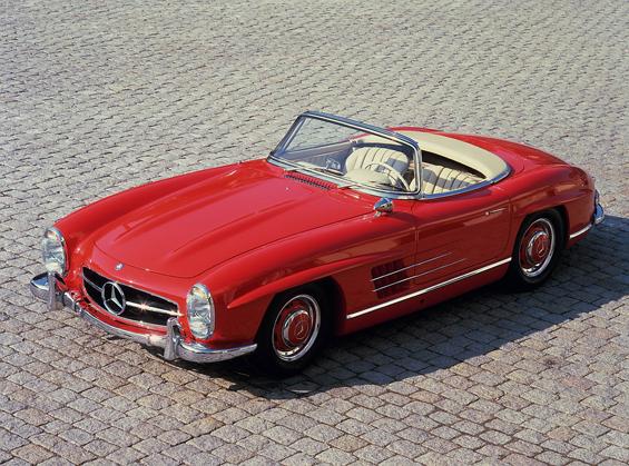 In aller Offenheit: Von 1957 an wird der Mercedes-Benz 300 SL Roadster gebaut. (Foto: Daimler)