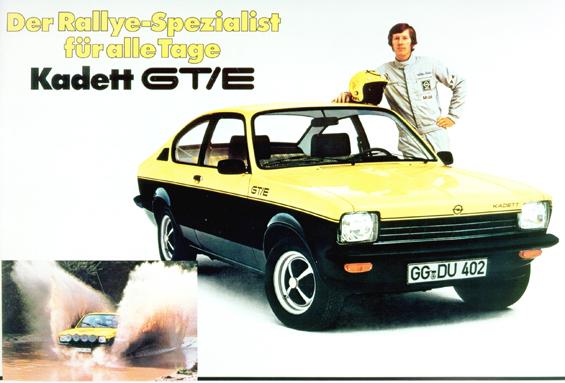 Opel Kadett C in der sportlichen GT/E Ausführung mit Walter Röhrl (Foto: Opel)