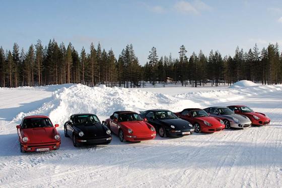 Porsche testet Youngtimer-Winterreifen in Rovaniemi am Polarkreis (Foto: Porsche)
