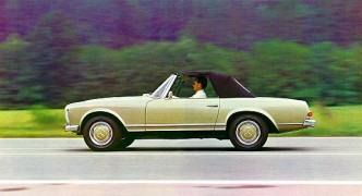 """Der Mercedes-Benz der Baureihe W 113, die von 1963-1971 gebaut wurde und überall als """"Pagode"""" bekannt ist, schneidet beim GTÜ Vergleich besonnders gut ab. (Foto: Daimler, zeitgenössisch)"""